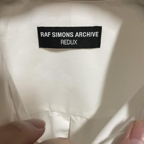 新品★21SS★RAF SIMONS ARCHIVE REDUX ラフシモンズ アーカイブ 胸刺繍 Joy Divisioin AW03 Closer期 長袖シャツ 48