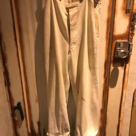 VINTAGE★40s〜50s GIEVES royal navy white trousers ギーブス ロイヤルネイビー サスペンダーボタン トラウザー パンツ 英国海軍