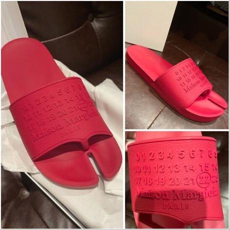 サイズ42★新品★MAISON MARGIELA メゾンマルジェラ  足袋 Tabi スライドサンダル シャワーサンダル  RED