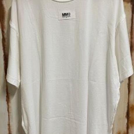 新品★Maison Margiela MM6 メゾンマルジェラ ブランドロゴ インサイドアウトリバース '6' Tシャツ