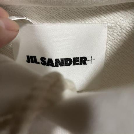 新品タグ付★ Jil Sander ジルサンダー ボクシー ブランドロゴ スウェットシャツ パーカー オーバーサイズ Lサイズ