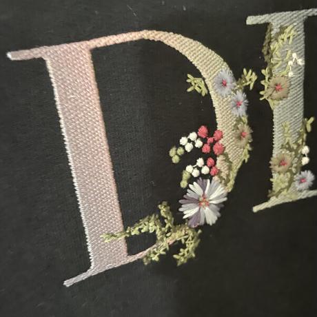 貴重XXLサイズ!新品★DIOR FLOWERS ディオール ブランドロゴ 刺繍 スウェットシャツ パーカー フーディ オーバーサイズ XXL  国内完売品!