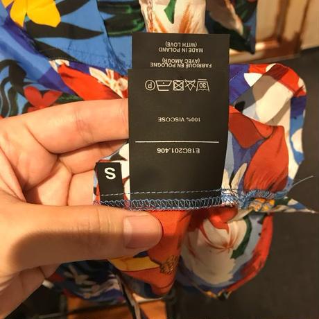 Sサイズ新品タグ付き★AMI ALEXANDRE MATTIUSSI アミアレクサンドルマテュッシ フローラル プリント ボーリングシャツ