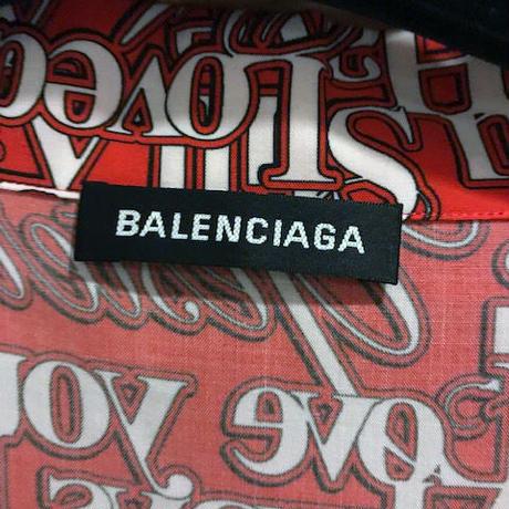 定価約12万円★新品タグ付き★2019SS★BALENCIAGA バレンシアガ オーバーサイズ LOVE アロハ 半袖シャツ パリコレ着 貴重37サイズ