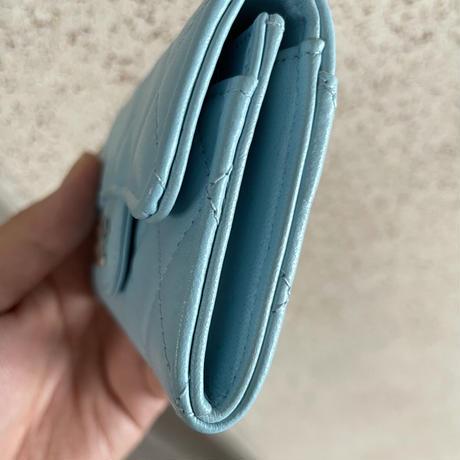 希少カラーCHANEL シャネル クラシック フラップ カードケース 名刺入れ 小銭入れ ミニ財布