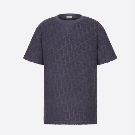 国内完売!新品★DIOR ディオール オブリーク テリーコットン ジャカード オーバーサイズ Tシャツ パイル地