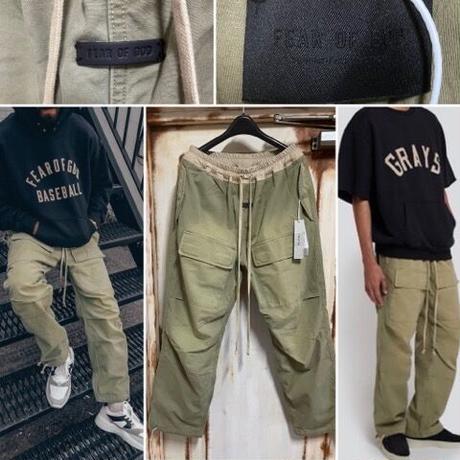 新品タグ付 Fear of God 7th フィアオブゴッド The Vintage cargo pants ヴィンテージ加工 コットン カーゴパンツ M
