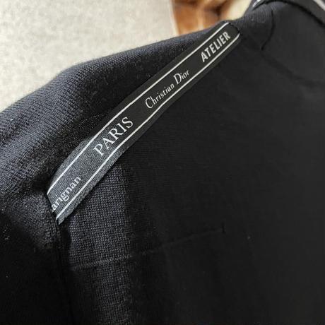 新品タグ付き★貴重★DIOR atelier ディオール アトリエ テープ ブランドロゴ Bee ハイネックハイネックセーター ニット Mサイズ