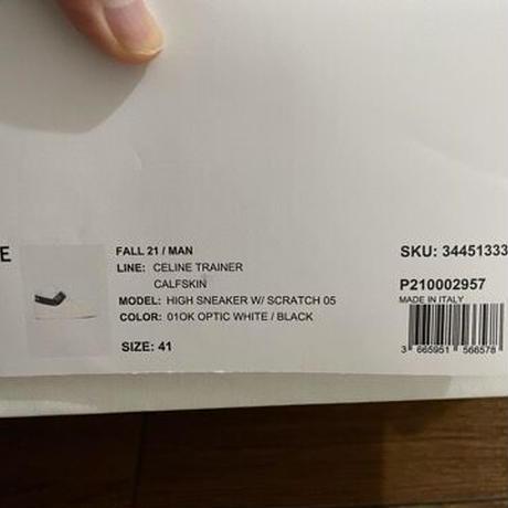新品★21FW★CELINE Hedi Simane セリーヌ ブランドロゴ  CELINE CT-03 ベルクロストラップ付き ハイカット スニーカー