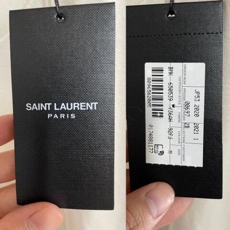 新品★SAINT LAURENT サーファー ブランドロゴショートスリーブ Tシャツ