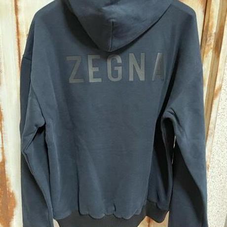 XLサイズ新品タグ付き Zegna × fear of god ゼニア フィアオブゴッド コラボ バックロゴ パーカー フーディ スウェットパーカー
