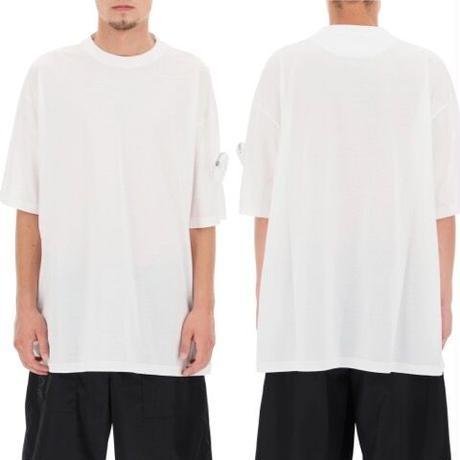 新品★PRADA by RAF SIMONS プラダ  トライアングル アームポーチ ブランドロゴ Tシャツ オーバーサイズ