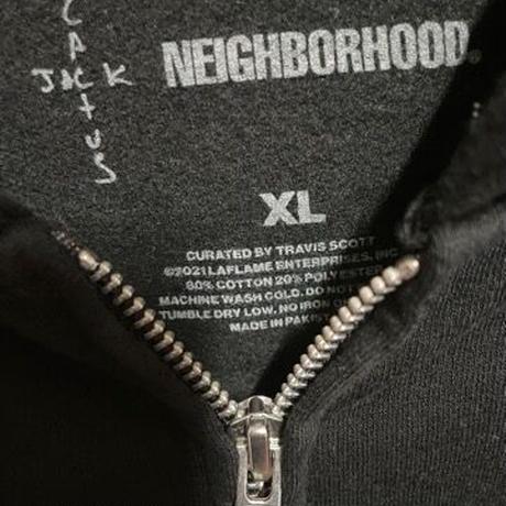 2XL XL!限定!新品★ CACTUS JACK TRAVIS SCOTT  × NEIGHBORHOOD Carousel 刺繍 ジップアップ パーカー
