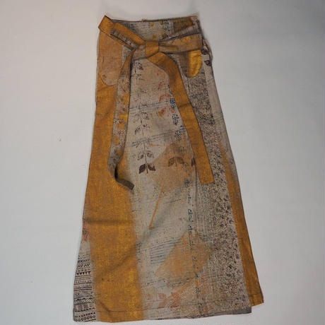 Un fabric-delhi-  series rew-001_001 エプロンスカート  Sサイズ