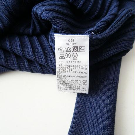2021SS今季 未使用 / three dots / Washable silk l/s buttoncardigan/カーディガン /  2107-0041