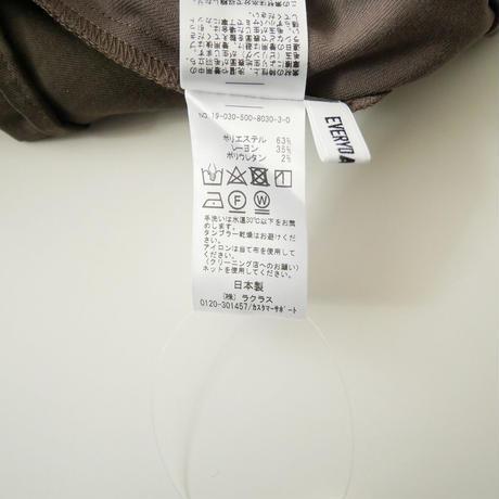 2019AW 未使用 / DEUXIEME CLASSE / スリットテーパードパンツ(2wayギャバ) /  2012-0094