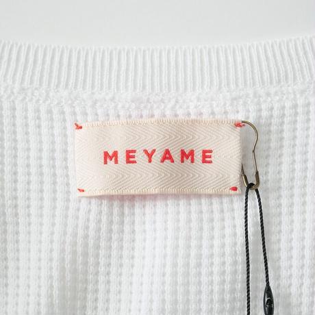 2020  / MEYAME / ワッフルニットプルオーバー /  2101-0367
