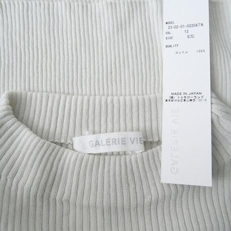 2020SS 未使用 / GALERIE VIE / ギザコットンリブ ビルドネックプルオーバー /  2010-1049