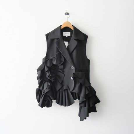 2020  / ENFOLD / フリル装飾 ノースリーブ ジャケット /  2110-0034