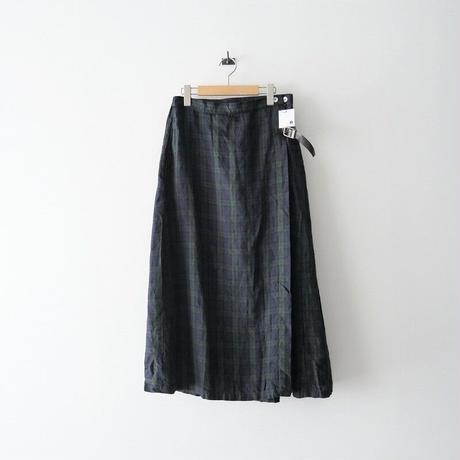 2020 未使用 / fog linen work / レーニ キルトスカート /  2104-0061