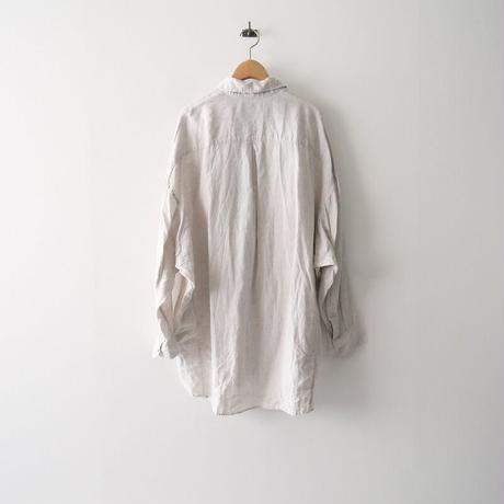 2020SS  / ARGUE / FRENCH LINEN FRAVOR WASH DEFORMED WIDE SHIRT /  2010-0811