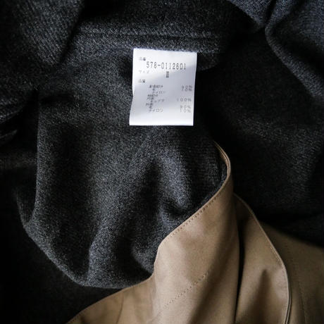 2019AW  / MARGARET HOWELL / フーデッドコート WATER PROOFED COTTON COATING /  2110-0278