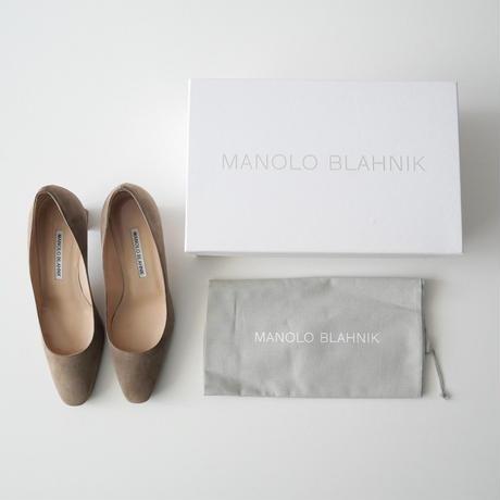 2020AW  / MANOLO BLAHNIK / OKKATOPLA 5cm Heal Pumpus / L'Appartement購入品 2105-0772