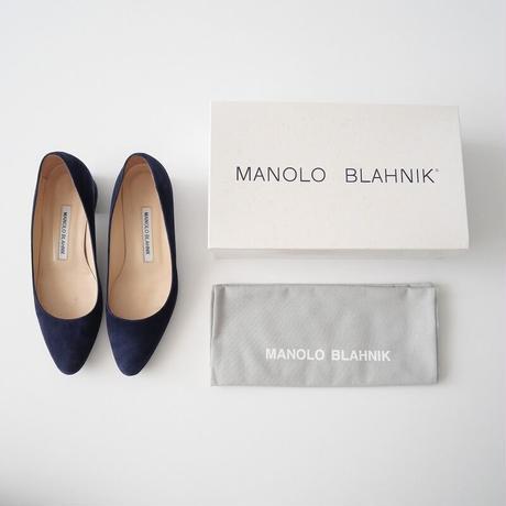 2020SS  / MANOLO BLAHNIK / LISTONY スエードパンプス /  2107-0187