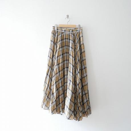 2018AW / Ballsey  ボイルチェックプリーツ アシンメトリースカート スカート 1811-0676
