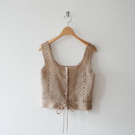 2019SS / nowos タンクトップ Crochet knit 1908-1747