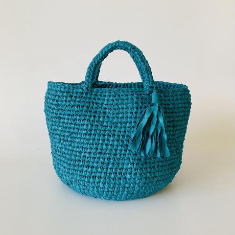 裂き編みバッグ  Mサイズ タッセル付き