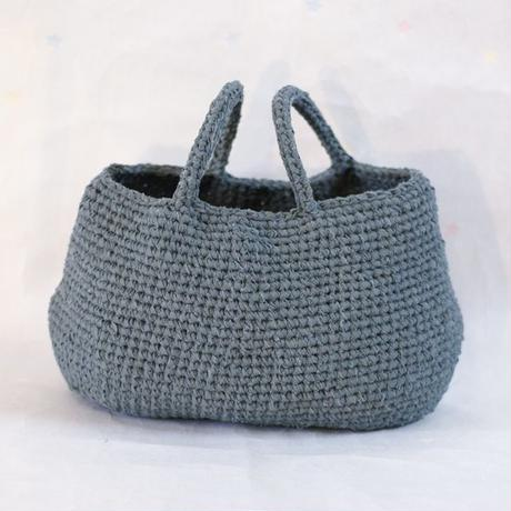 裂き編みバッグ 横長Lサイズ
