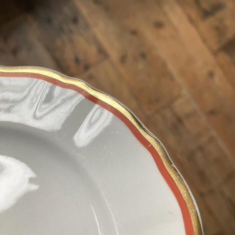 old arabia  plate  gold & orange