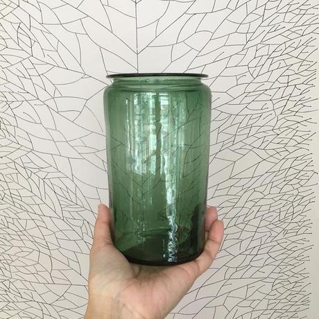 Finland glass jar green