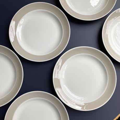 arabia   beige line plate 17cm