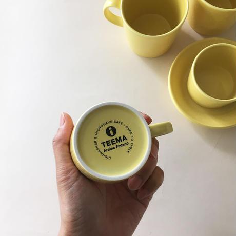teema coffee cup&saucer  yellow
