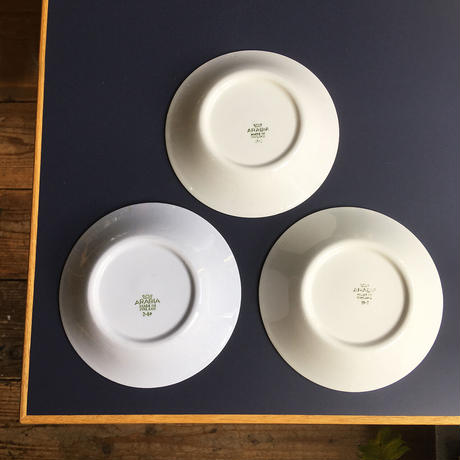 arabia  small plate  white