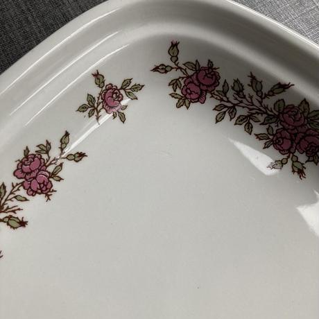 arabia  square plate rose