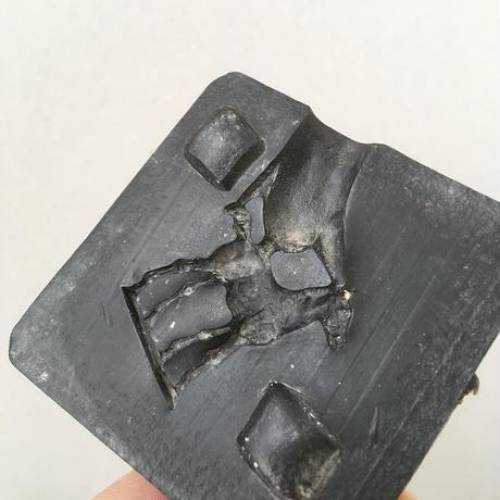 vintage Plaster mold HORSE