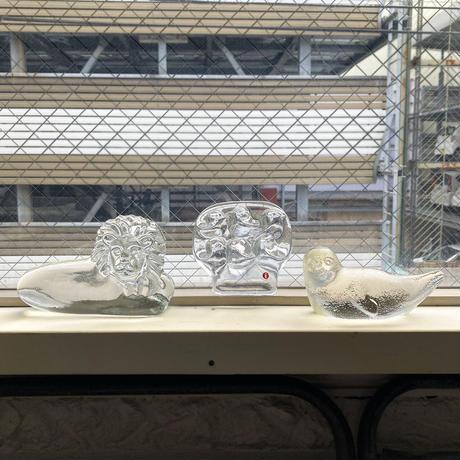 Humppila   glass obje lion roland leijona Finland