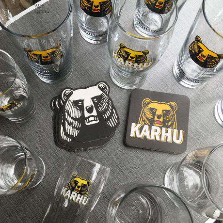 Finland karhu beer small glass ml