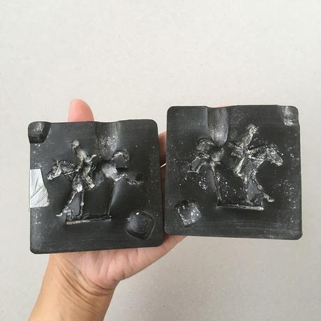 vintage Plaster mold JOCKEY