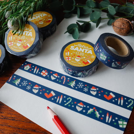 オリジナルマスキングテープ「レトロクリスマス」