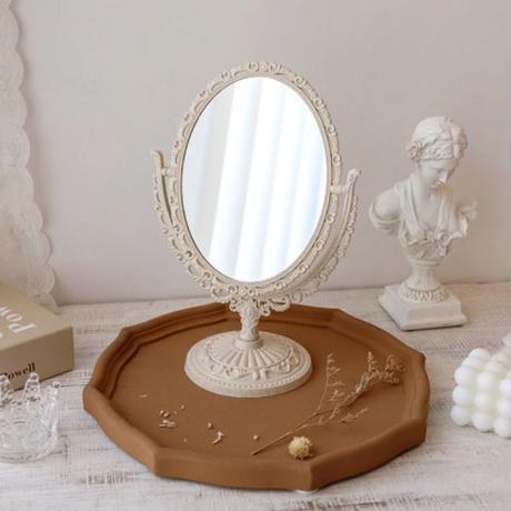 mirror-09001 アールヌーボー スタンド 両面ミラー