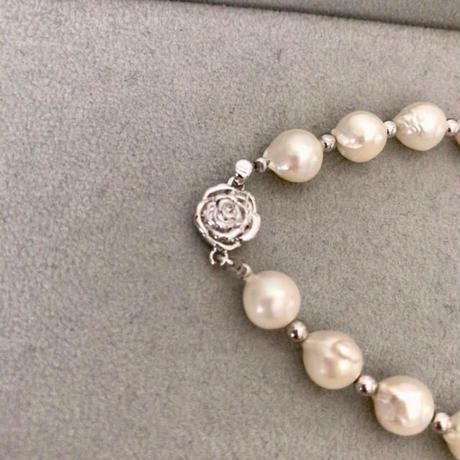 【バロックパール】バロック真珠 天然パール 本真珠 ブレスレット シルバー 本物