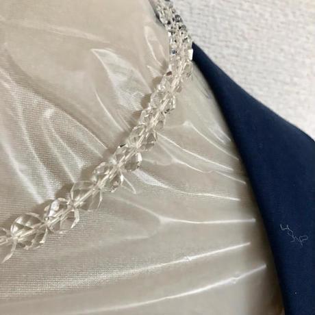 【水晶】クリスタル 天然石 パワーストーン 留め具 シルバー ネックレス 本物