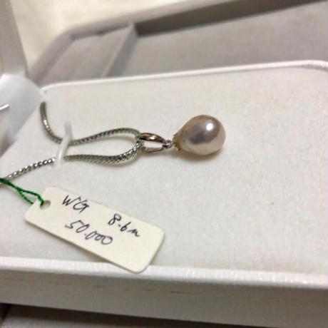 【バロック真珠】本真珠 天然 パール ペントップ 14金 ホワイトゴールド 本物
