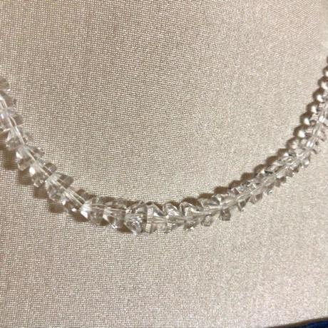 【水晶】本水晶 クリスタル 天然石 パワーストーン ネックレス 留め具 シルバー
