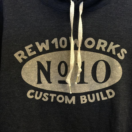 REW10 SWEAT PARKA   CUSTOM BUILD LOGO MIDNIGHT HEATHER