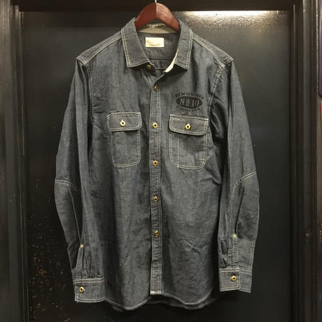 REW10 WORK CHAMBRAY COTTON/LINEN
